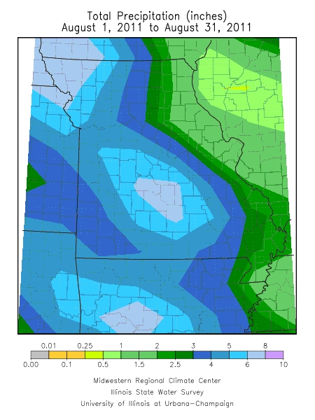 Precipitation August 1, 2011 - August 31, 2011